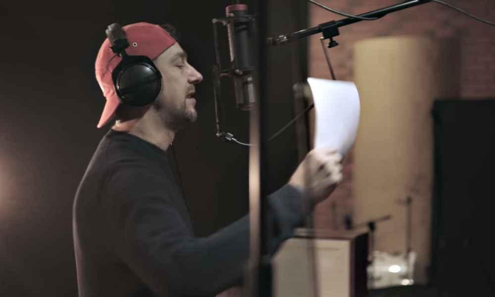 Sokół w studio nagrywa