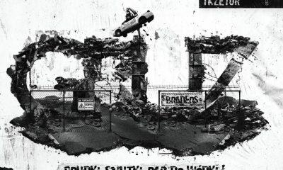 """Okładka płyty Gruz Braders (Bonson, Głowa PMM, TKZetor) - """"Grudki, smutki, rap do wódki"""""""