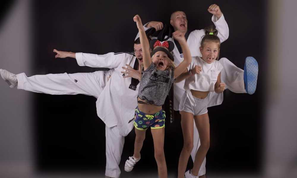 DJ Decks i Taek z dziećmi, z córkami