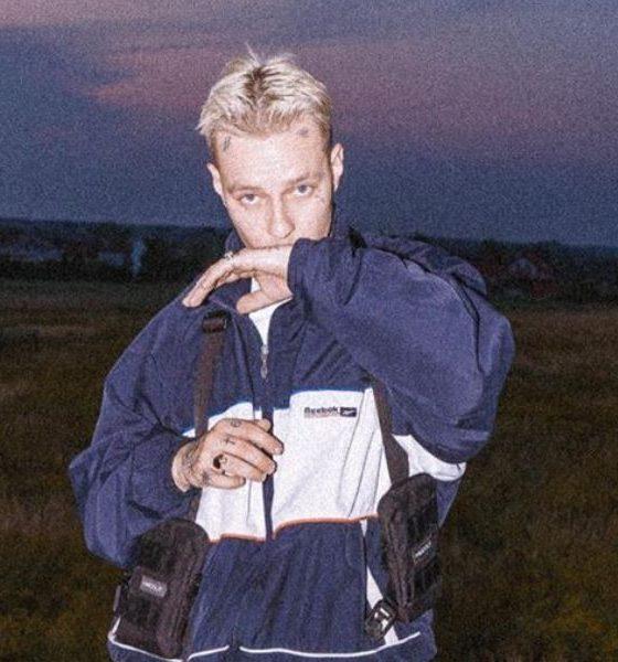 tymek w niebieskiej kurtce na polu