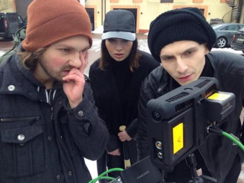 Od lewej - Michal Jagiello, Mery Spolsky i Vixen. Fot. Rafal Jankowski