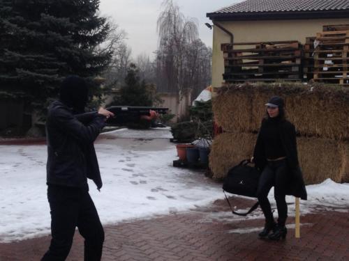 Vixen i Mery Spolsky na planie klipu do ROMANTYCZNEJ MILOSCI. Fot. Rafal Jankowski
